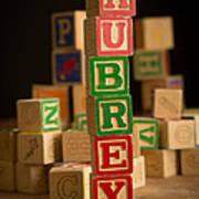 Aubrey - Alphabet Blocks Art Print