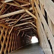 Auchumpkee Creek Covered Bridge Inside View Art Print