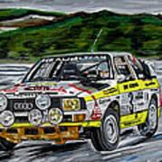 Audi Quattro Art Print