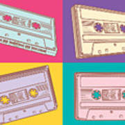 Audio Cassettes Art Print