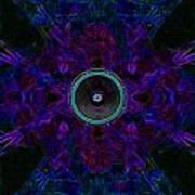 Audio Purple Glow Art Print
