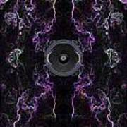Audio Purple Neon Art Print