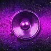 Audio Purple Art Print