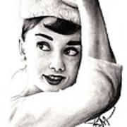 Audrey Hepburn 2 Art Print by Rosalinda Markle