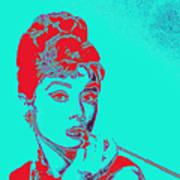 Audrey Hepburn 20130330v2p128 Square Art Print
