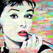 Audrey Hepburn Art Breakfast At Tiffany's Art Print