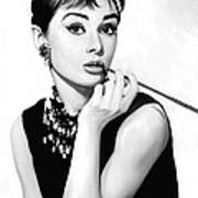 Audrey Hepburn Artwork Art Print