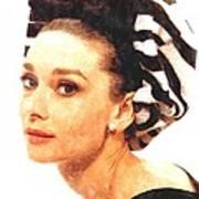 Audrey Hepburn In Watercolor Art Print