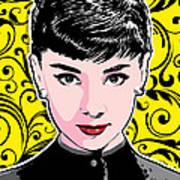 Audrey Hepburn Pop Art Art Print