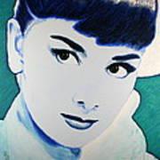 Audrey Hepburn Pop Art Painting Art Print