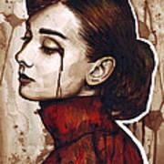 Audrey Hepburn Portrait Art Print by Olga Shvartsur