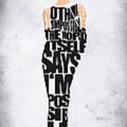 Audrey Hepburn Typography Poster Art Print