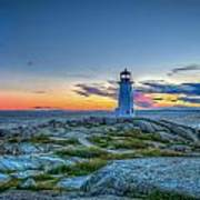 August Sunset At Peggy's Cove 2 Art Print