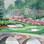 Augusta National 12th Hole Art Print by Deborah Ronglien