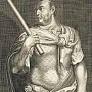 Aullus Vitellius Emperor Of Rome Print by Titian