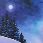 Aurora Borealis Winter Art Print by Cecilia Brendel