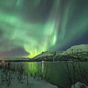 Aurora In Nothern Norway I Art Print