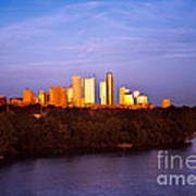 Austin At Last Light Art Print