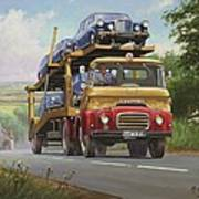 Austin Carrimore Transporter Art Print by Mike  Jeffries