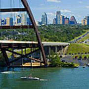 Austin From The 360 Bridge Art Print
