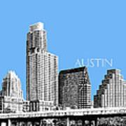 Austin Skyline - Sky Blue Art Print