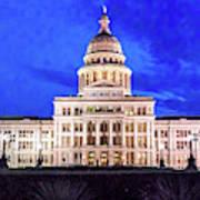 Austin State Capitol Building, Texas - Art Print