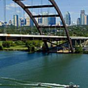 Austin Texas 360 Bridge Vert Art Print
