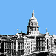 Austin Texas Capital - Sky Blue Art Print