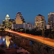 Austin, Texas Cityscape Evening Skyline Art Print