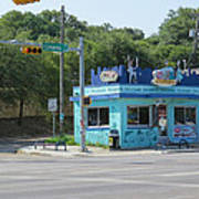 Austin Texas Congress Street Shop Art Print