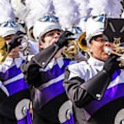 Austin Texas - Marching Band Celebrate Art Print