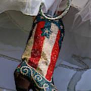 Austin Texas - Red White Blue Sequin Art Print