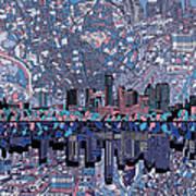 Austin Texas Skyline 3 Art Print
