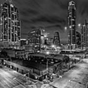 Austin Texas Skyline Get Out The Crane Construction Time Again Art Print