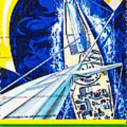 Australia II Americas Cup Yacht Sailboat  Art Print