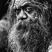 Australian aboriginal busker Art Print
