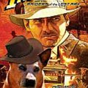 Australian Cattle Dog Art Canvas Print - Indiana Jones Movie Poster Art Print