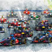 Australian Grand Prix F1 2012 Art Print