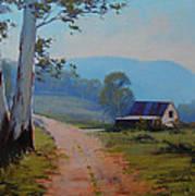 Australian Landscape Lithgow  Art Print