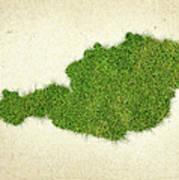 Austria Grass Map Art Print