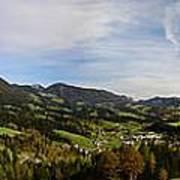 Austrian Autumn Scenic Panorama 2 Art Print