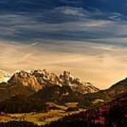 Austrian Autumn Scenic Panorama Art Print