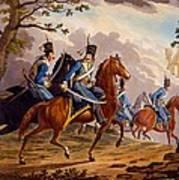 Austrian Hussars In Pursuit Art Print