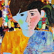 Autism - Child And Mother Art Print by Carmencita Balagtas