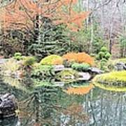 Autumn Lakeside Art Print