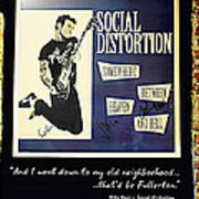 Autographed Poster Of Rock Legend Mike Ness  Art Print by Renee Anderson