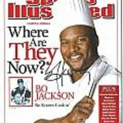 Autographed Sports Illustrated Cover By Bo Jackson Bo Knows Cookin' Art Print by Desiderata Gallery