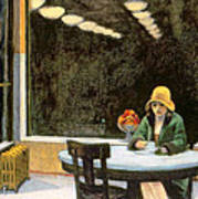 Automat Art Print by Edward Hopper