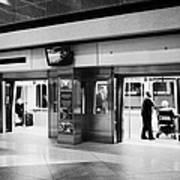automated guideway transit system at Denver International Airport Colorado USA Art Print by Joe Fox
