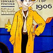 Automobile Calendar Advertisement 1906 Art Print
